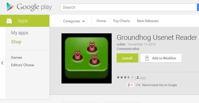 Groundhog Google Play