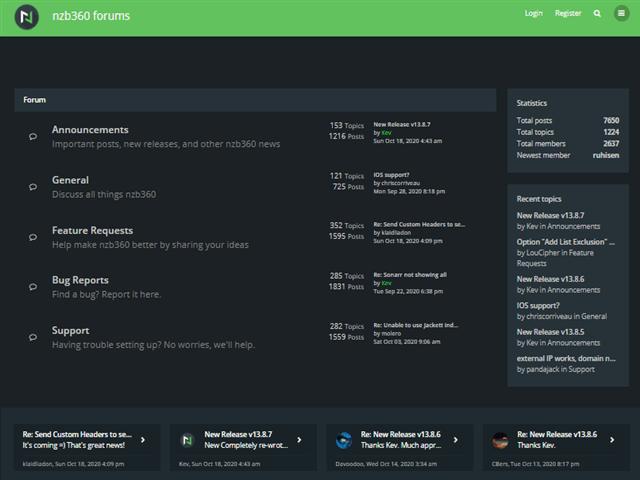Nzb360 Forums