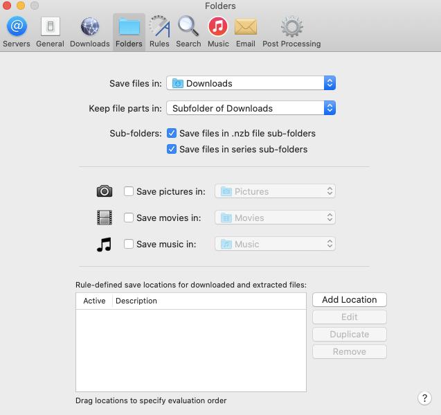 Nzbdrop Folders