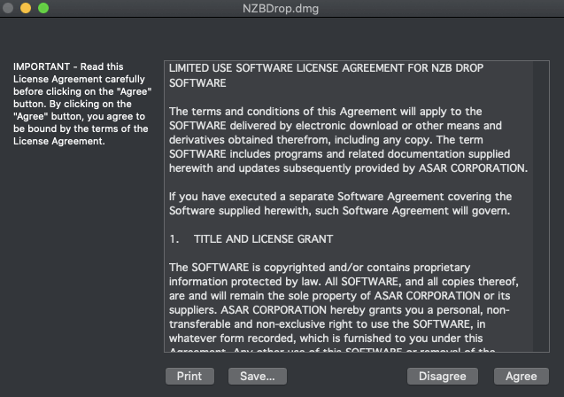 Nzbdrop License Agreement