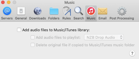 Nzbdrop Saving Music Files