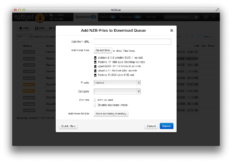 Nzbget Download Dialogue