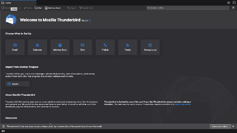 Thunderbird Interface