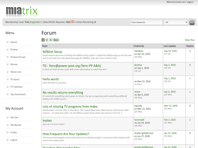 Miatrix Forum