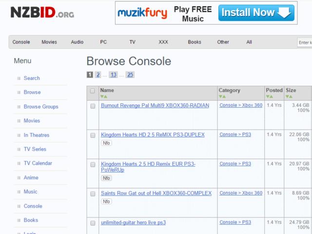 Nzbid.org Homepage