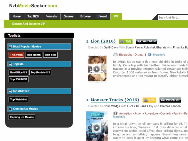 Nzbmovieseeker Homepage