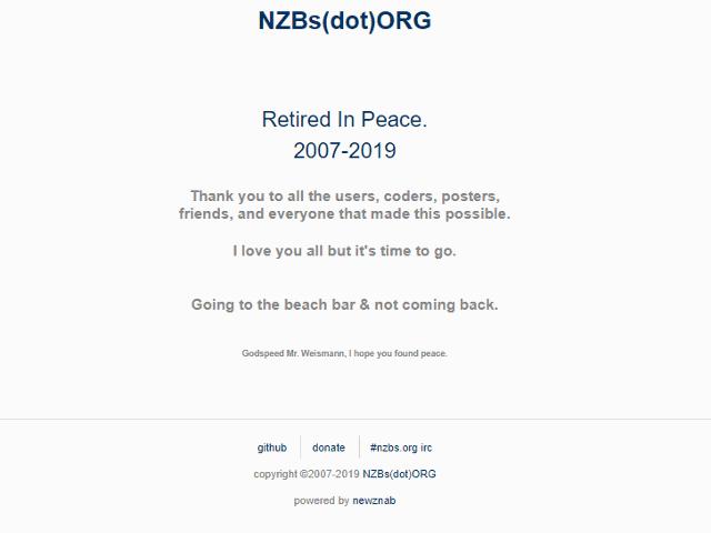 Nzbs.org Retired 2019