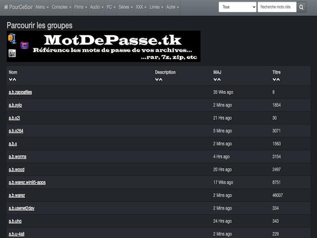 Pourcesoir Browse Groups