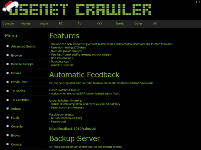 Usenet Crawler Addtional Features