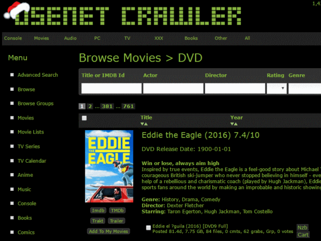 Usenet Crawler Good Selection