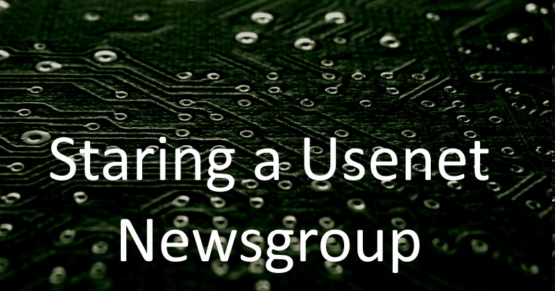 Newsgroup Formation